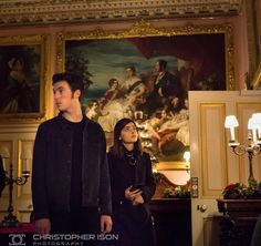 Jenna Coleman and Tom Hughes visit Osborne House on the Isle of Wight, December, 2016.