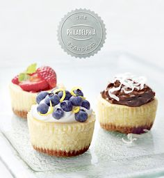 Philadelphia Mini Cheesecakes are a deliciously simple dessert to serve at your next celebration.