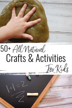 Are you in search of more ways to keep your kiddos busy? More ways to enhance their playtime? Check out this list of amazing all natural crafts and activities for kids!