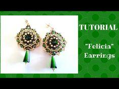 """Tutorial: come realizzare un paio di orecchini """"Felicia"""" con rocaille e bicono swarovski - YouTube"""