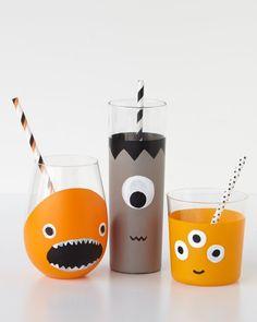 DIY Halloween Monster Drinkware | Vasos monstruos divertidos para los niños