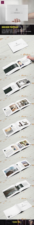 Brochure Portfolio 24 Pages  — InDesign Template #architecture #designer…