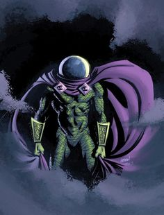 Mysterio by LostonWallace Marvel Villains, Marvel Comics Art, Marvel Comic Books, Marvel Vs, Comic Book Characters, Marvel Heroes, Marvel Characters, Comic Character, Comic Books Art
