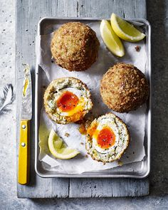 Is there anything more enjoyable than slicing open a scotch egg to reveal a perfectly boiled egg with a golden yolk? This spiced prawn version is easy-to-make and even easier to eat.