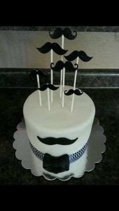 Trendy Birthday Cake For Husband Love Baby Shower Birthday Cakes For Men, Mustache Birthday Cakes, Moustache Cake, Birthday Cake For Husband, Cake Birthday, Husband Cake, Men Birthday, Birthday Ideas, Fondant Cakes