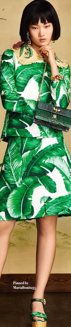 Dolce and Gabbana Summer-2016 Banana Leaf Print Collection Highlights
