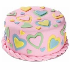 On Valentine's Day, give your special someone a Gift from the Heart. This cake is simple to decorate using ready-to-use rolled fondant and heart cut-outs, and it's even easier to enjoy!