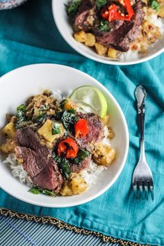 Duck, Pineapple, and Coconut Curry | {Katie at the Kitchen Door}