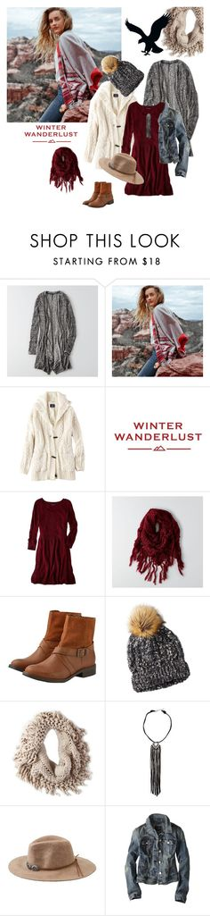 """""""Winter Wanderlust with American Eagle: Contest Entry"""" by katelyn999 ❤ liked on Polyvore featuring American Eagle Outfitters and aeostyle"""