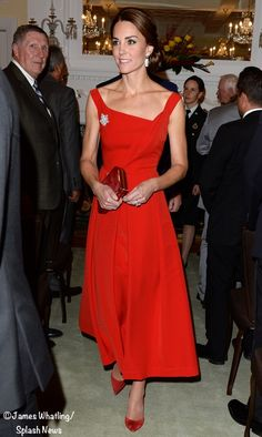 Kate Dazzles in a Rich Red Cocktail Dress