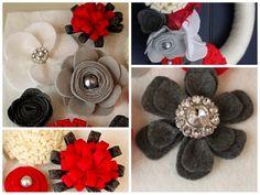 ashley felt flower collage