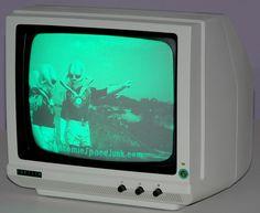 "1984 ""Gorilla"" retro computer monitor with ""Hi-Resolution"" green monochrome screen. #LeadingEdgeProductInc"