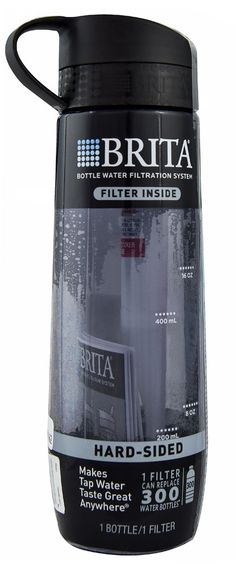 Brita Bottle Water Filtration System Hard-Sided Black. Bought this last night after gym. I always drink bottle water but thought a filter might even make my water better.