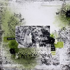 """Our Sweet Girl"" Layout Green Tara by Mistra Hoolahan"