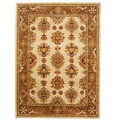 Hand-Tufted Tempest Ivory/Brown Area Rug (8' x 11')