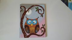 Owl canvas painting Owl Canvas, Table Lamp, Mugs, Tableware, Painting, Home Decor, Art, Art Background, Dinnerware
