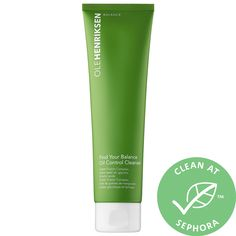 Shop Ole Henriksen's Find Your Balance™ Oil Control Cleanser at Sephora. It reduces excess oil and unclogs pores, without stripping skin. Sephora, Cleanser For Sensitive Skin, Blemish Remover, Ole Henriksen, Acne Cream, Unclog Pores, Makeup Store, Facial Cleansers, Cleansing Gel