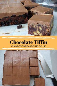 Tray Bake Recipes, Baking Recipes, Dessert Recipes, Desserts, Chocolate Tiffin Recipe, Chocolate Recipes, Chocolate Traybake, Weetabix Cake, Traybake Cake