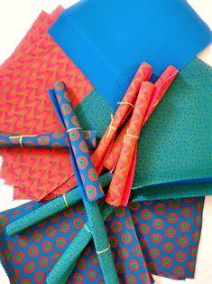 Carrés pour patchwork - petits travaux - Shweshwe véritable - 100% coton - Collection couleurs vives by MathildeAndCo on Etsy