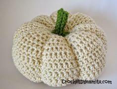 #Crochet pumpkin free pattern from @crochetdynamite