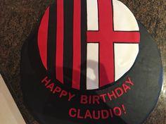 AC Milan soccer cake