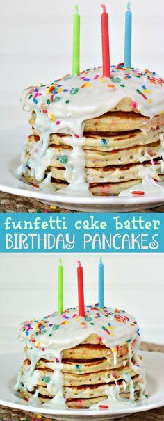 Funfetti Cake Batter Birthday Pancakes Recipe