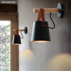 LED Mur Lampes Abajur pour Salon Appliques Lumière E27 Nordique En Bois ceinture Mur Lumière Blanc/Noir dans LED Intérieur Mur Lampes de Lumières et Éclairage sur AliExpress.com | Alibaba Group