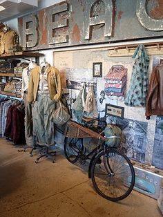 RRL. Visual merchandising. VM. Retail store display. Men's clothing. Ralph Lauren.