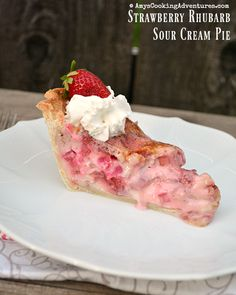 Blueberry Rhubarb Sour Cream Pie Recipe — Dishmaps