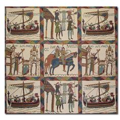 image of Bayeux Tapestry Cushion Cover from Dover Castle