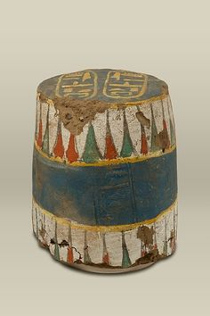 Seal from a Jar with the Names of Amenhotep III  Period:     New Kingdom  Dynasty:     Dynasty 18  Reign:     reign of Amenhotep III  Date:     ca. 1390–1352 B.C.  Geography:     Probably from Egypt, Upper Egypt, Thebes, Malqata  Medium:     Mud, pottery, paint  Dimensions:     h. 22 cm (8 11/16 in)  Credit Line:     Rogers Fund, 1936  Accession Number:     36.2.4  On view at The Met Fifth Avenue in Gallery 117 The Egyptians used large pottery jars to store wine and other foodstuffs. These…