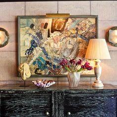 Artful mix. Xk #interiordesign #homedecor #art #color #worldofkelly