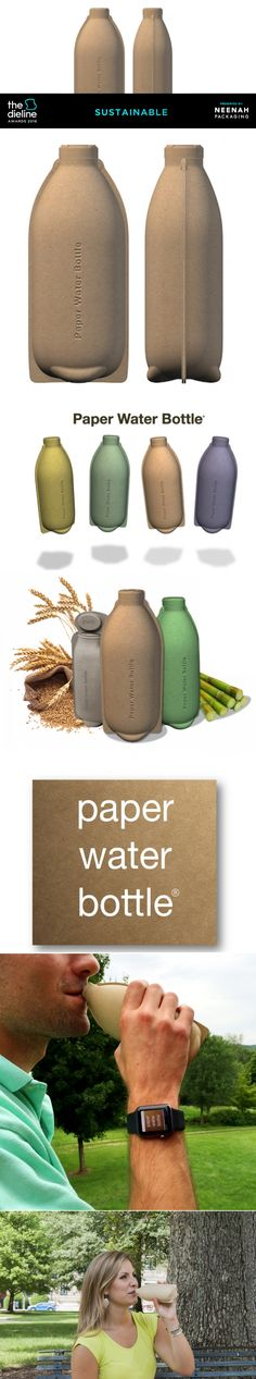 The Dieline Awards 2016: Paper Water Bottle — The Dieline | Packaging & Branding Design & Innovation News