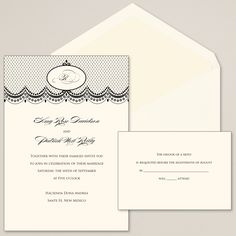 Royal Monogram Wedding Invitation | #exclusivelyweddings