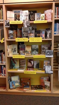 History: Their Stories, Our Stories library display by Colette Cassinelli, via Flickr