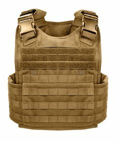 Rothco MOLLE Tactical Plate Carrier Vest - Black or Coyote - Adjustable Shoulder Straps with Detachable Pads - MOLLE Compatible Webbing Covers most of Vest - Internal Sleeves for Soft Armor and Plate Plate Carrier Vest, Assault Vest, Airsoft Sniper, Tac Gear, Combat Gear, Tactical Vest, Tactical Clothing, Tactical Gloves, Tactical Gear