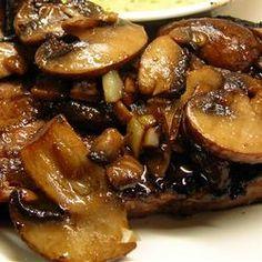"Supberb Sauteed Mushrooms... ""Sauteed mushrooms with a hint of wine and teriyaki sauce"