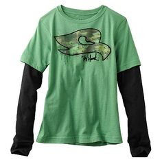 tony hawk clothing for boys | Tony Hawk Camo Logo Mock-Layer Tee - Boys 8-20