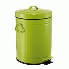 Lixeira Retrô Verde 5L