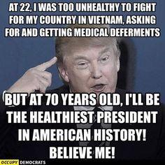 Funny Donald Trump Memes: Healthiest President