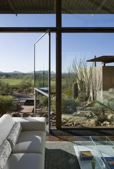 Amazing Desert Landscape with Outdoor Fire Pit and Infinity Pool  The Brown Residence by Lake|Flato Architects   DesignRulz.com