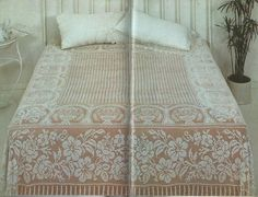 Vintage Double Bedspread in Filet Crochet PDF Pattern by CraftyKittenCorner on Etsy https://www.etsy.com/listing/226441098/vintage-double-bedspread-in-filet