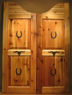 Saloon swinging doors... Hey these look familiar!  Lol, a photo of some of Rube's doors made their way to Pinterest (all on their own).  He searched to see what Pinterest had for saloon doors, and he says this was originally his photo.