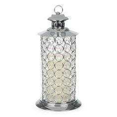 "Wilson & Fisher® 12.5"" Metal Gem LED Lantern at Big Lots. Lanterns Decor, Light Decorations, Spa Rooms, Led Lantern, Camping Lights, Fisher, Candle Holders, Gems, Backyard"
