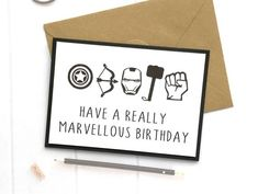 Excited to share this item from my shop: Avengers Card, Marvel Card, Marve… – Birthday Happy Birthday Messages, Happy Birthday Banners, Handmade Birthday Cards, Birthday Candy, Birthday Balloons, Birthday Gifts, Card Birthday, Marvel Cards, Marvel Gifts