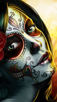 Beautiful day dos muertos girl