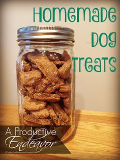 A Productive Endeavor: Homemade dog treats