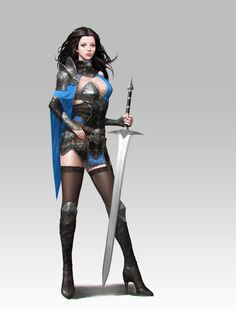 ArtStation - female knight , Woochang Choi