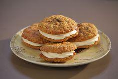 Cookies de tarta de zanahoria rellenas de crema de queso