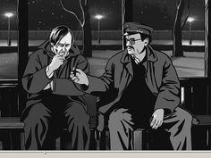 """Dreimal nicht ganz normal. Erstens: Ein Comic aus Tschechien - eher selten. Zweitens: Als abendfüllender Spielfilm animiert. Drittens: Im Rotoskopieverfahren erstellt, also """"Abzeichnen"""" von Echtfilm. Das Ergebnis: Ein besonderer Arthouse Film - """"Alois Nebel""""."""